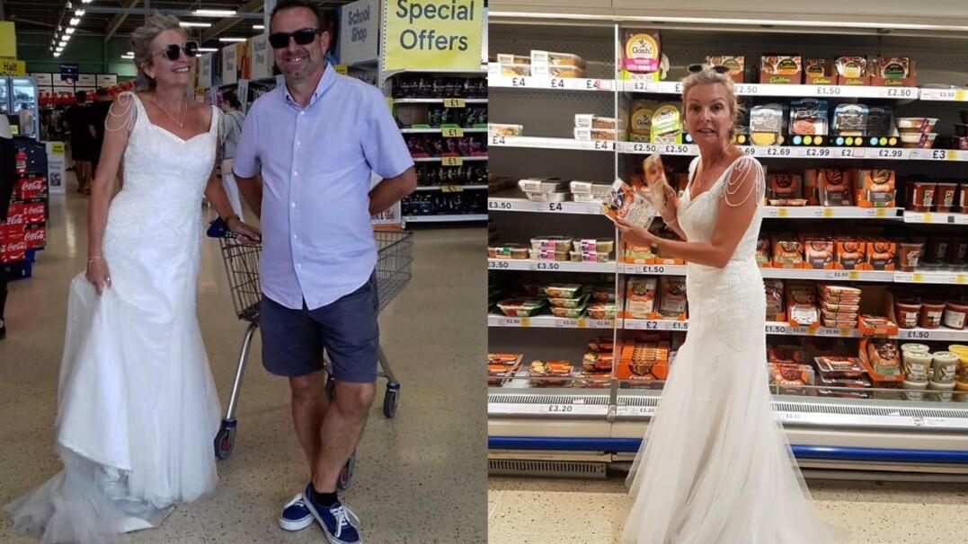 W bieli na zakupy, koncert, w domu. Cały rok w sukni ślubnej