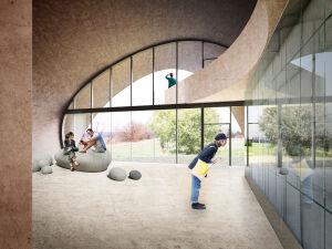 Cztery firmy chcą budować pawilon-głaz nad Wisłą