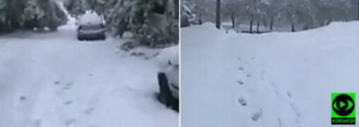 Śnieg w Maroku. Zaspy były pokaźne