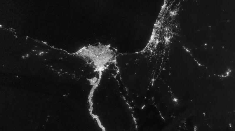 W okresie ramadanu w krajach arabskich widać wzrost emisji światła
