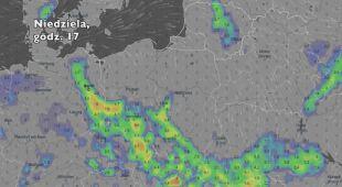Opady w ciągu najbliższych pięciu dni (Ventusky.com) | wideo bez dźwięku