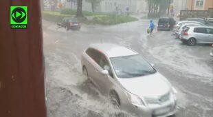 Ulica jak rzeka w Bolesławcu