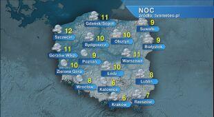 Prognoza pogody na noc 02/03.06