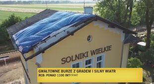 Skutki gwałtownego wiatru i burz w Polsce